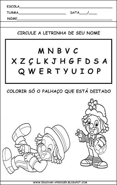 ATIVIDADES DIA DO CIRCO PATATI-PATATA