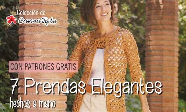 7 prendas elegantes crochet