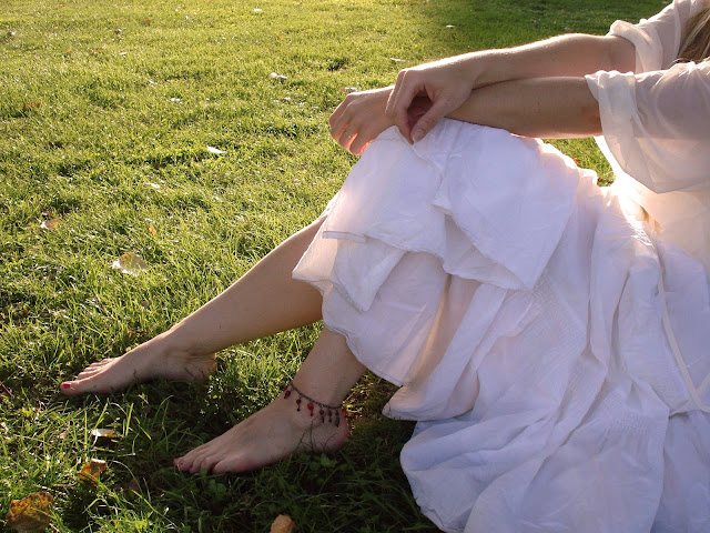 Sommer im weißen Kleid