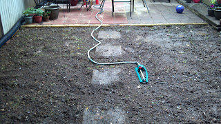soil that has been tilled in preparation of sod