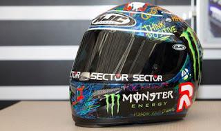 Lorenzo Jual Helm Untuk Amal