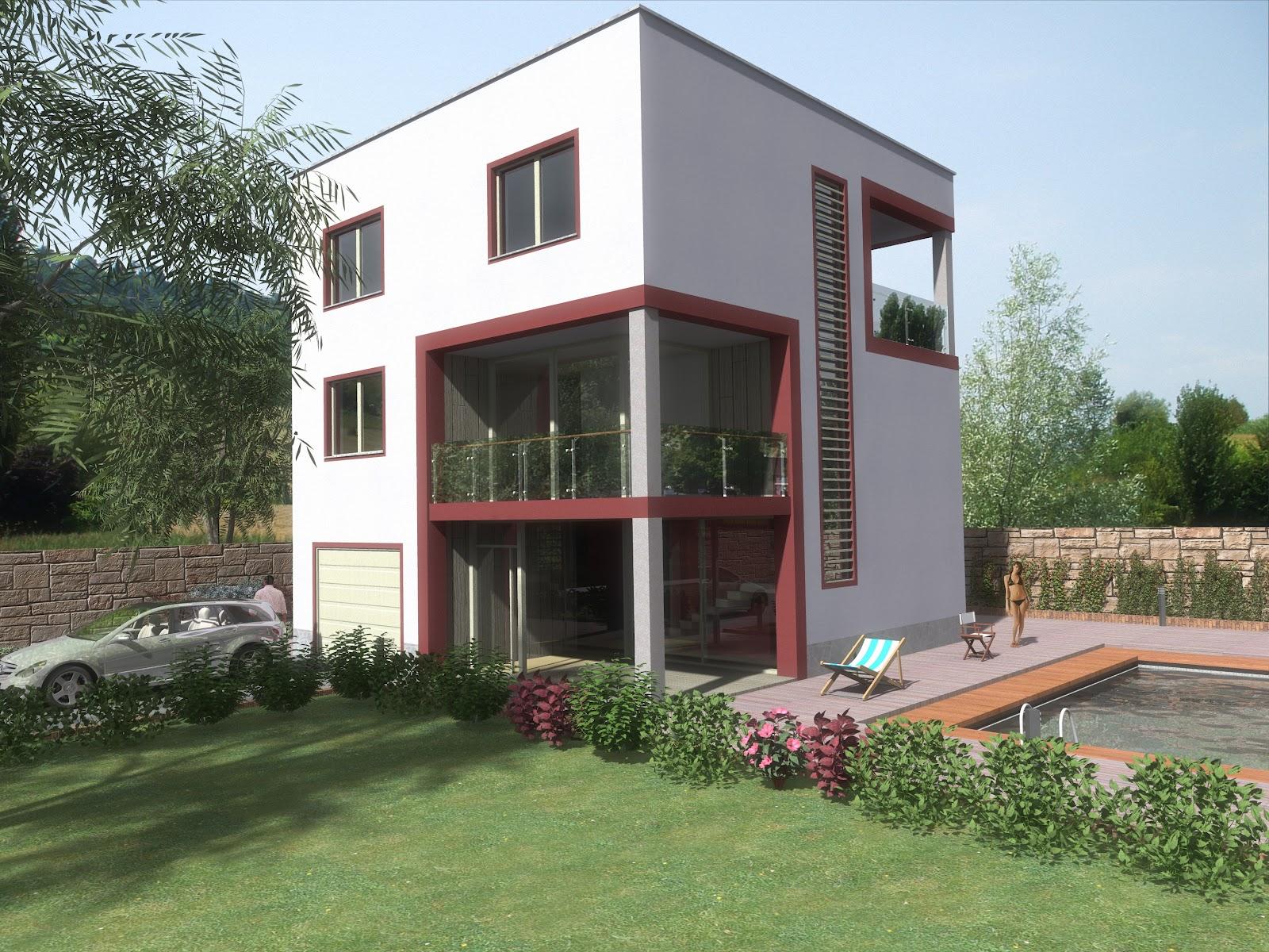 Render architettonici maggio 2012 for Case a forma di u