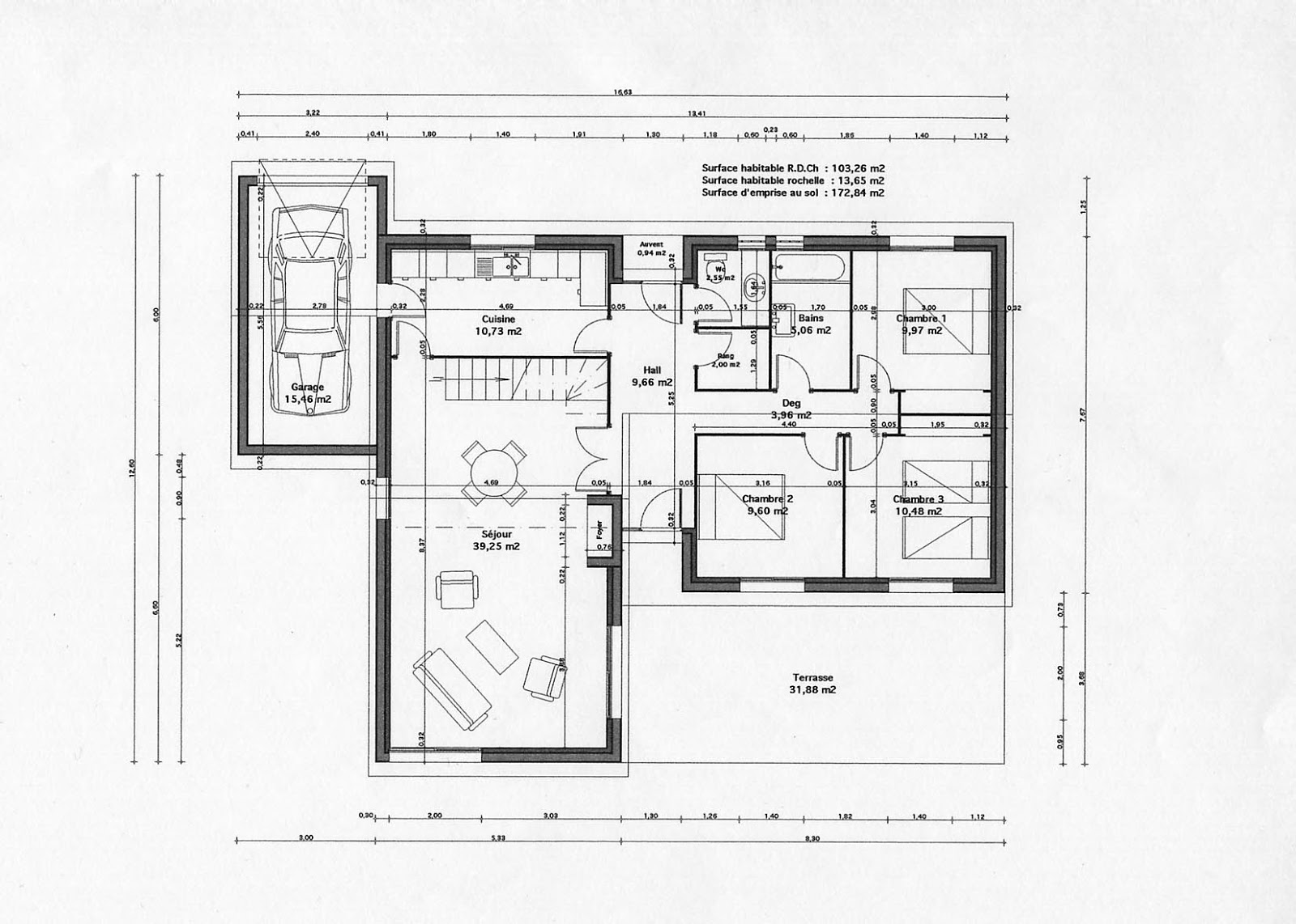 Maison moderne de luxe interieur for Plan maison tropicale gratuit