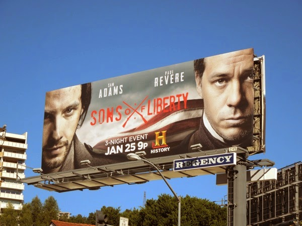 Sons of Liberty History miniseries billboard