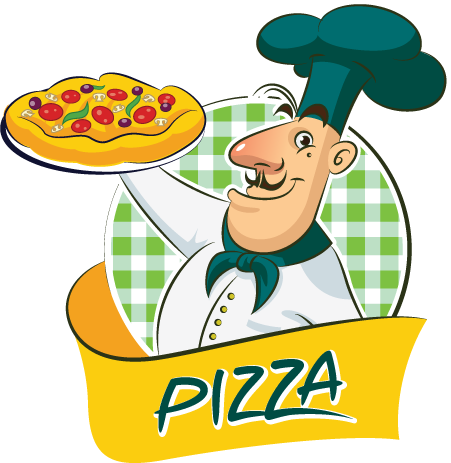 cocinero de pizza vector