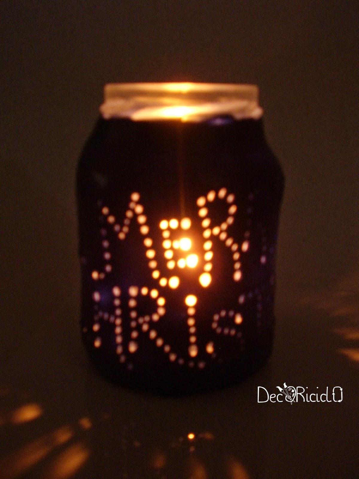 Estremamente decoriciclo: Lanterna riciclosa, con vetro di recupero e pasta  ET44