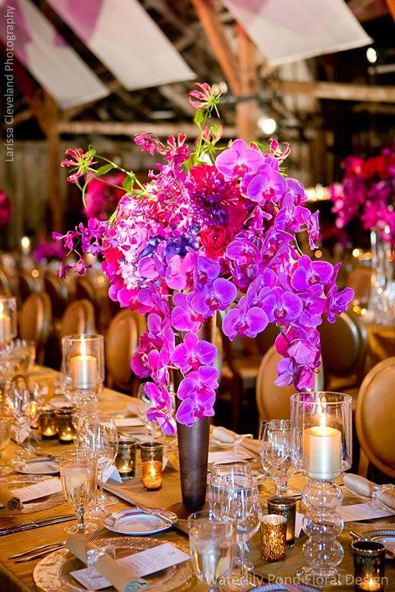 Centros de Mesa con Orquídeas,  Diferentes  Ocasiones,
