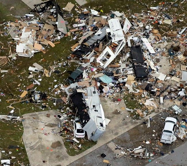 Tornado season comes early to the US as 6 deaths many more injured, 65,000 without power....