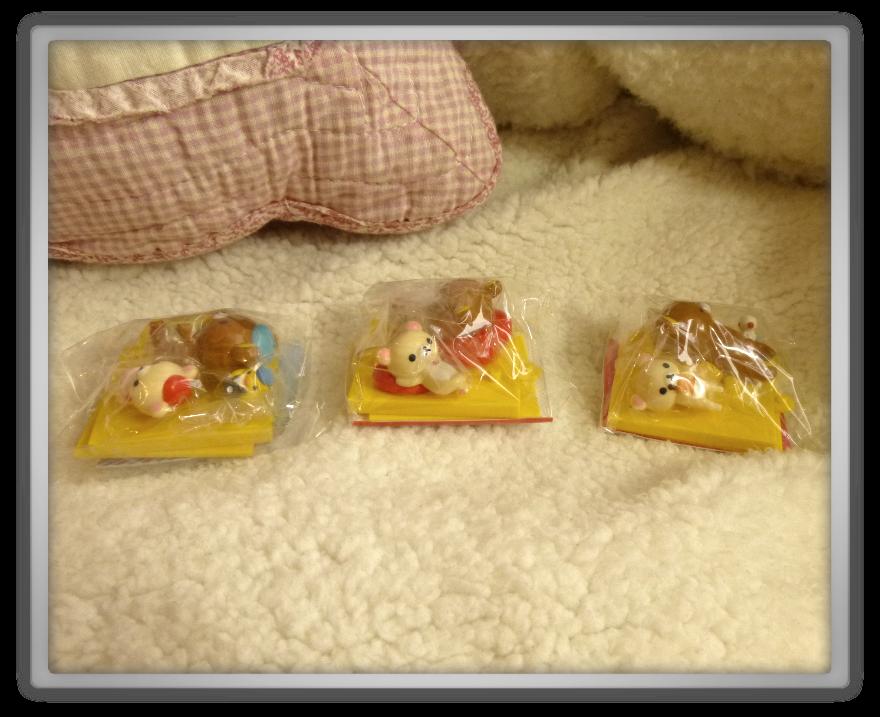Oyatsu Cafe haul shoplog candy kawaii cute rilakkuma korilakkuma kiiroitori ramine model set 1 2 3