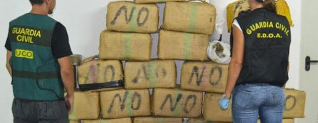 Desmantelada una banda de narcos en Fuerteventura con 830 kilos de hachís