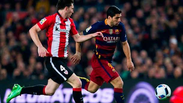 Luis Suárez se jugó la expulsión ante el Athletic Club