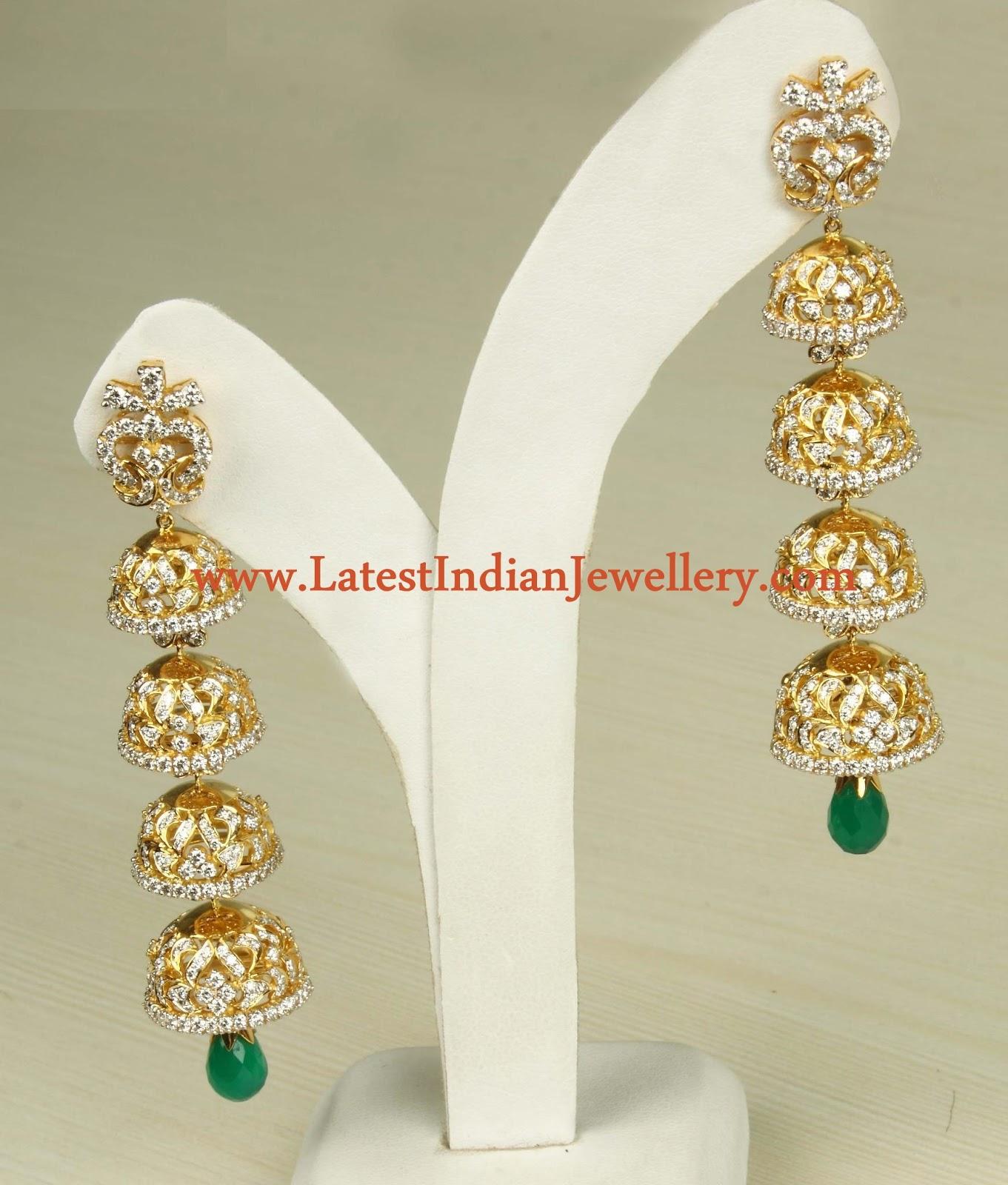 Emerald earrings design online