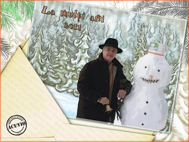 Funny postcard Adrian Nastase Felicitari Anul Nou