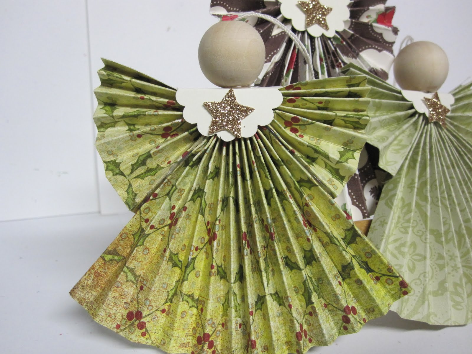 Christmas Crafts Paper Angels : Krafting with karen folded designer paper angels
