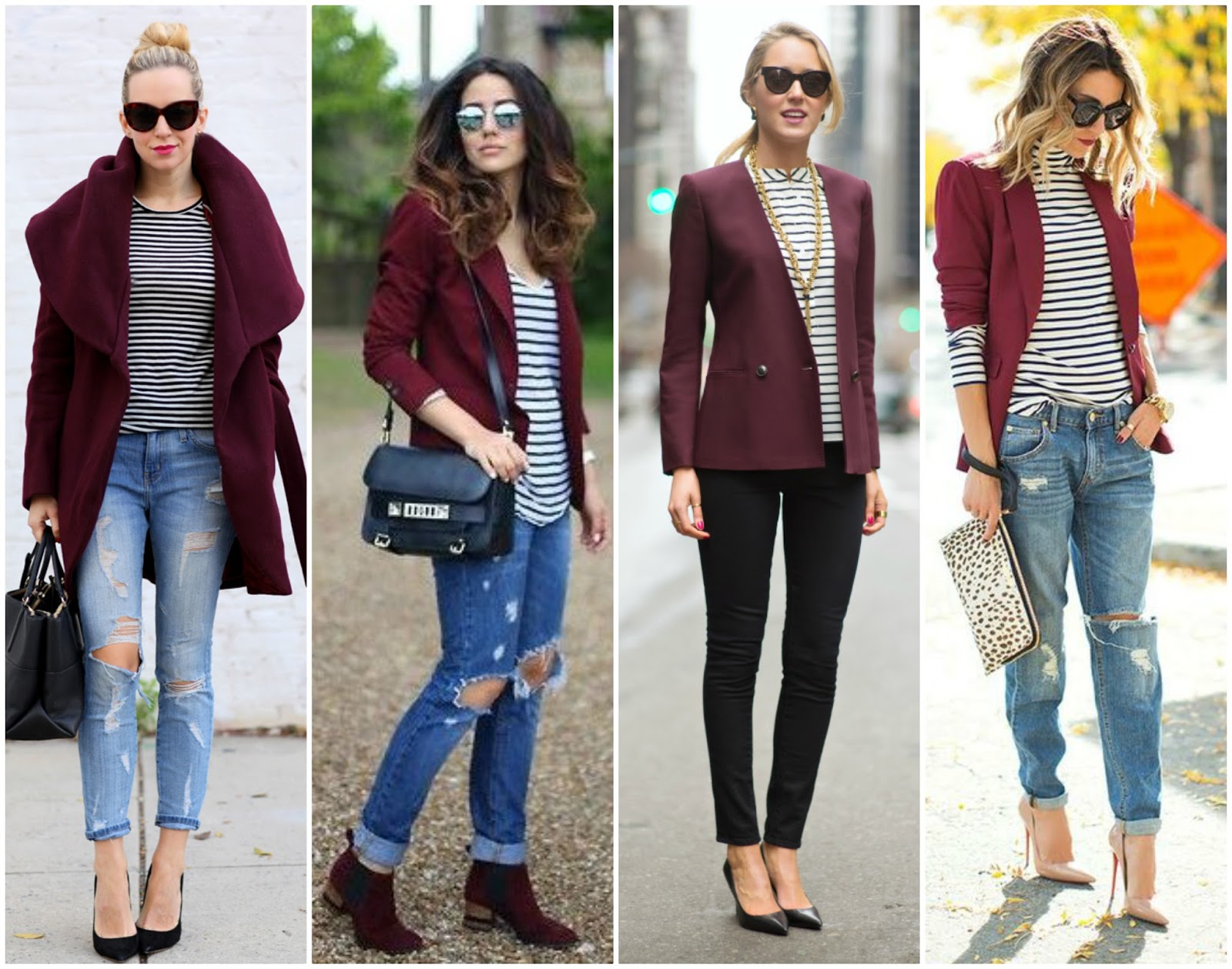 nice burgundy jacket outfit 8