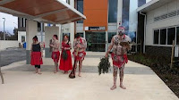 Smoking ceremony at the Gungahlin Community Health Centre