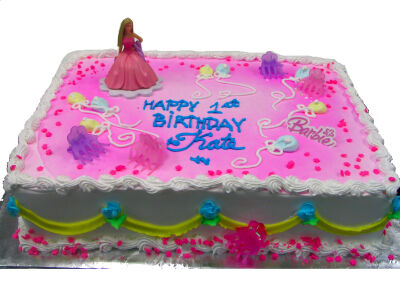 Bakery CakesBarbie Cake Topper and Birthday Candle Set