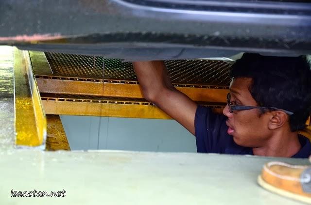 Working below your vehicle