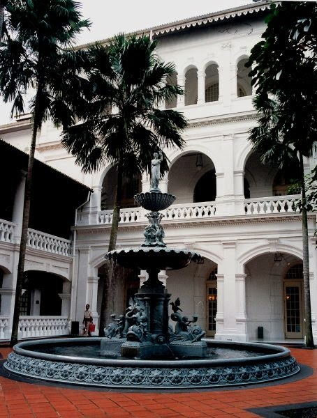 Fountain at Raffles Hotel