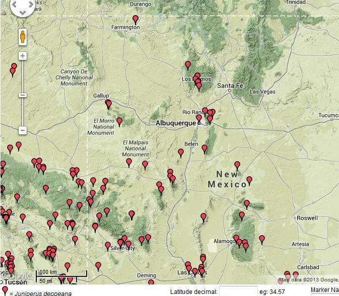 new mexico mountain range map submited images