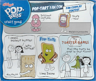 Back of Kellogg's Spookylicious Frosted Chocolate Fudge Pop-Tarts box