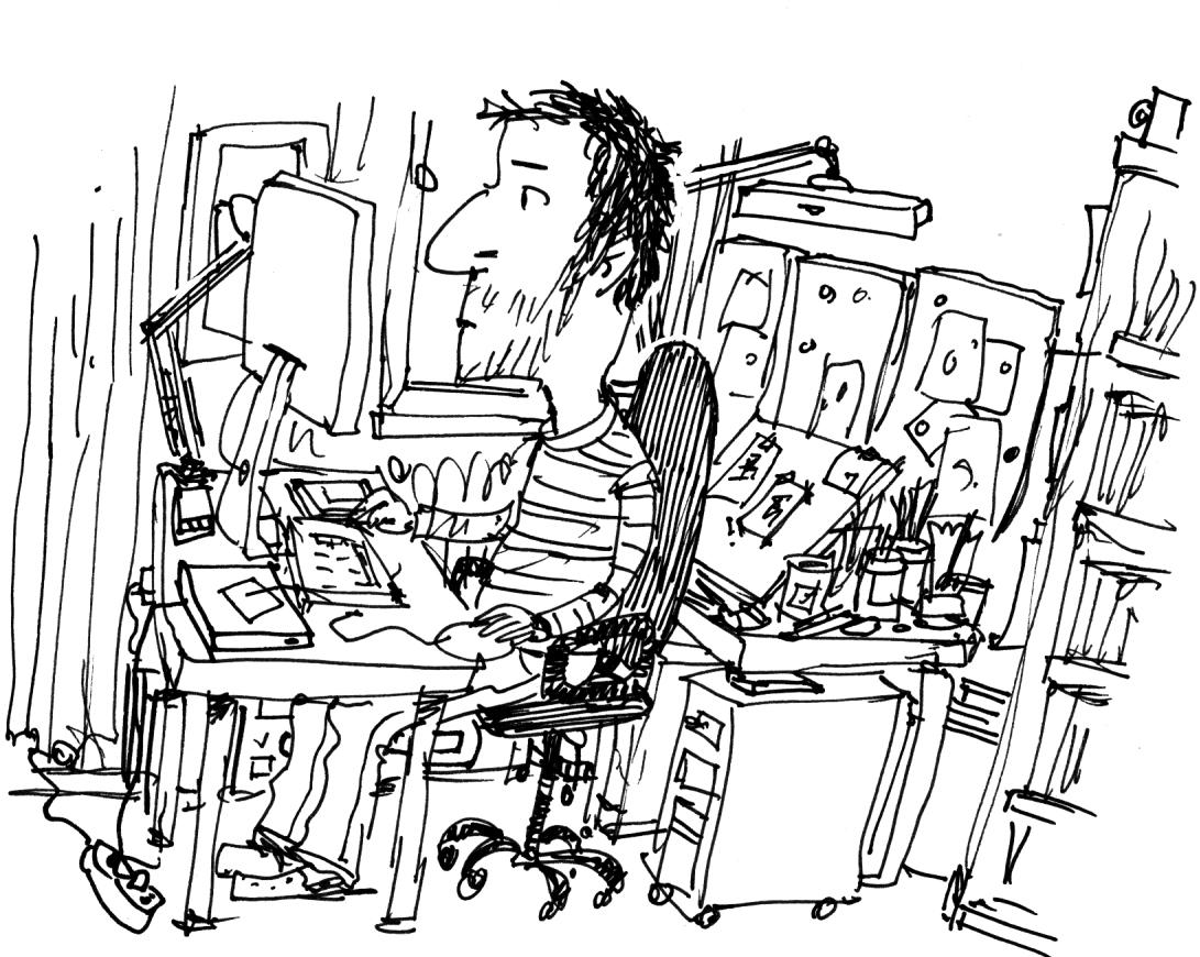 Arbeitsplatz zeichnung  Illustration: Mein Arbeitsplatz