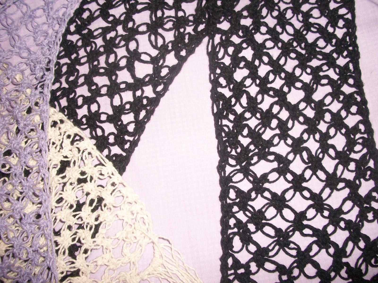 Bufandas tejidas en crochet