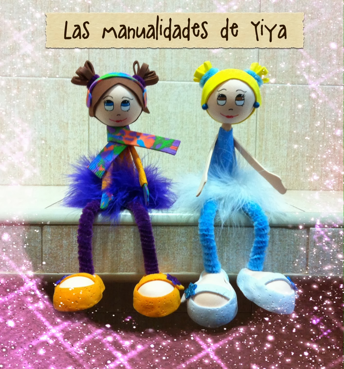 Las Manualidades de Yiya: Cuadros con fofuchas (25x30 cm).