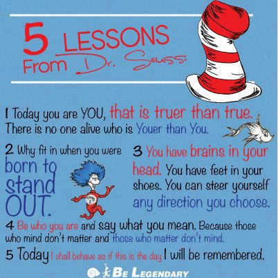 5 Lessons From Dr Seuss on 7 Lessons In Life From Dr Seuss
