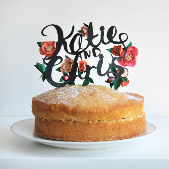 cake topper papier découpé