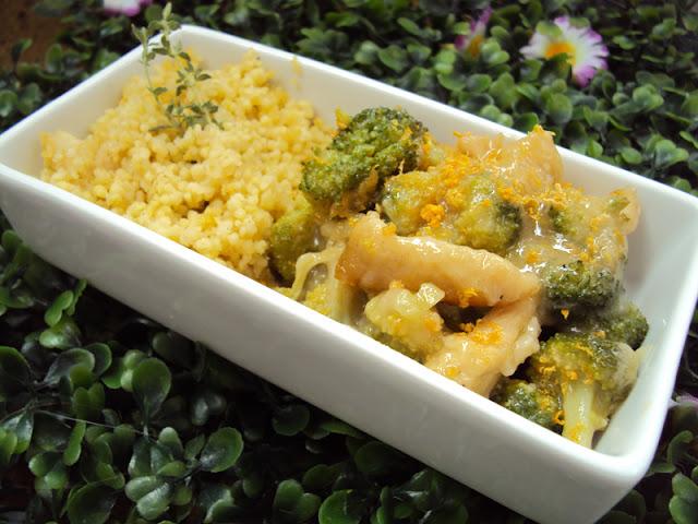 Kurczak cytrynowy, pierś z kurczaka z brokułami i cytryną