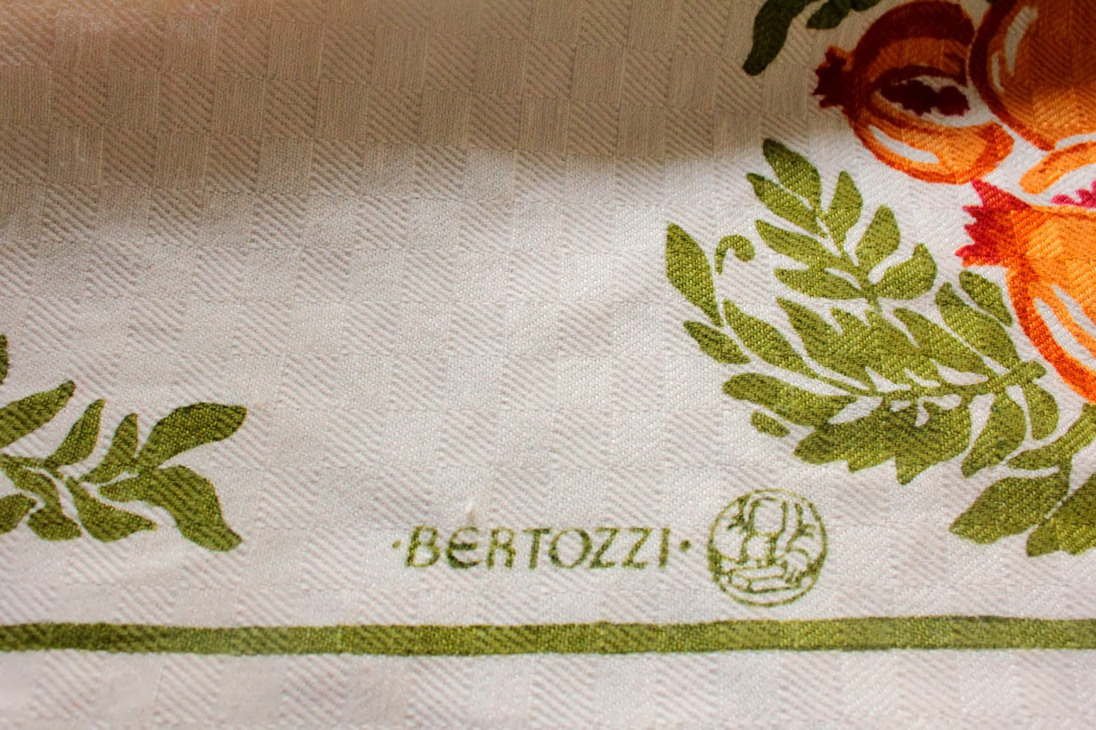 The Linens Are Made Near Siena Where I Vacationed By The Bertozzi Family.  They Are Hand Stamped By Original Hand Carved Wooden Molds.