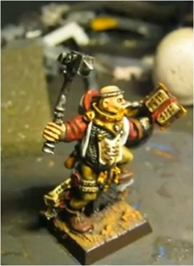 Sacerdote guerrero de Sigmar con arma de mano y escudo