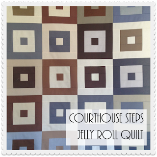 Courthouse Steps Jelly Roll Quilt