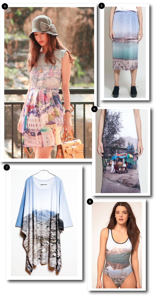 photographic fashion print landscape trend