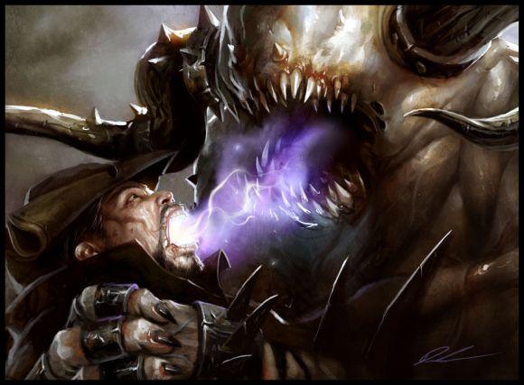 mike lim daarken ilustrações fantasia medieval violência batalhas monstros arte conceitual video games O colhedor de almas
