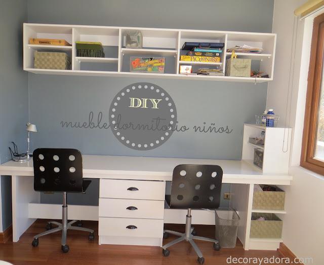 Decora y adora diy mueble dormitorio ni os for Muebles para estudio