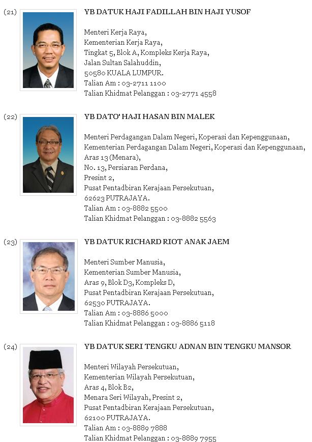 Menteri Kabinet