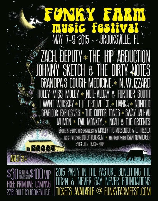Funky Farm Music Festival flyer