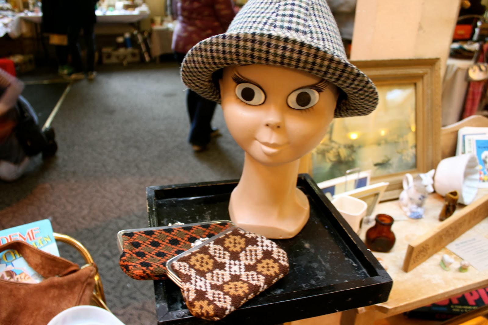 retro mannequin head, vintage fair, bristol