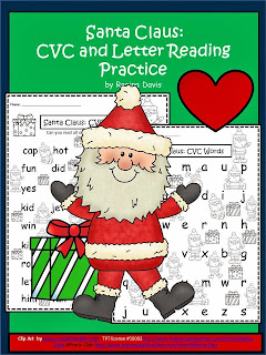 http://www.teacherspayteachers.com/Product/A-Santa-Claus-CVC-Words-And-Letter-Reading-Practice-1014394