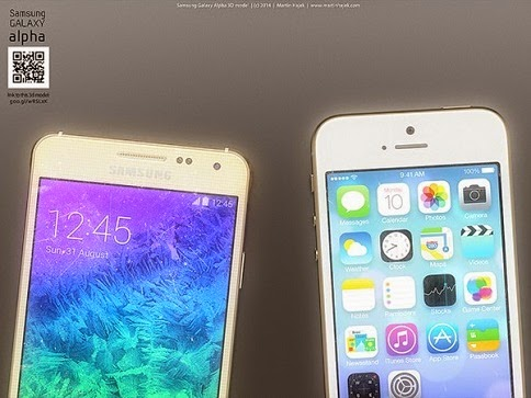 Samsung Galaxy Alpha vs iPhone 6 8