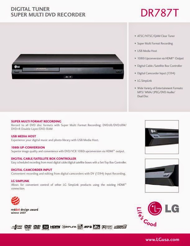 LG DVD RECORDER DRT389H MANUAL