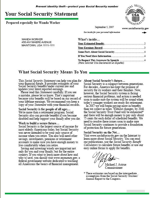 monthly income social security award letter calendar 2015