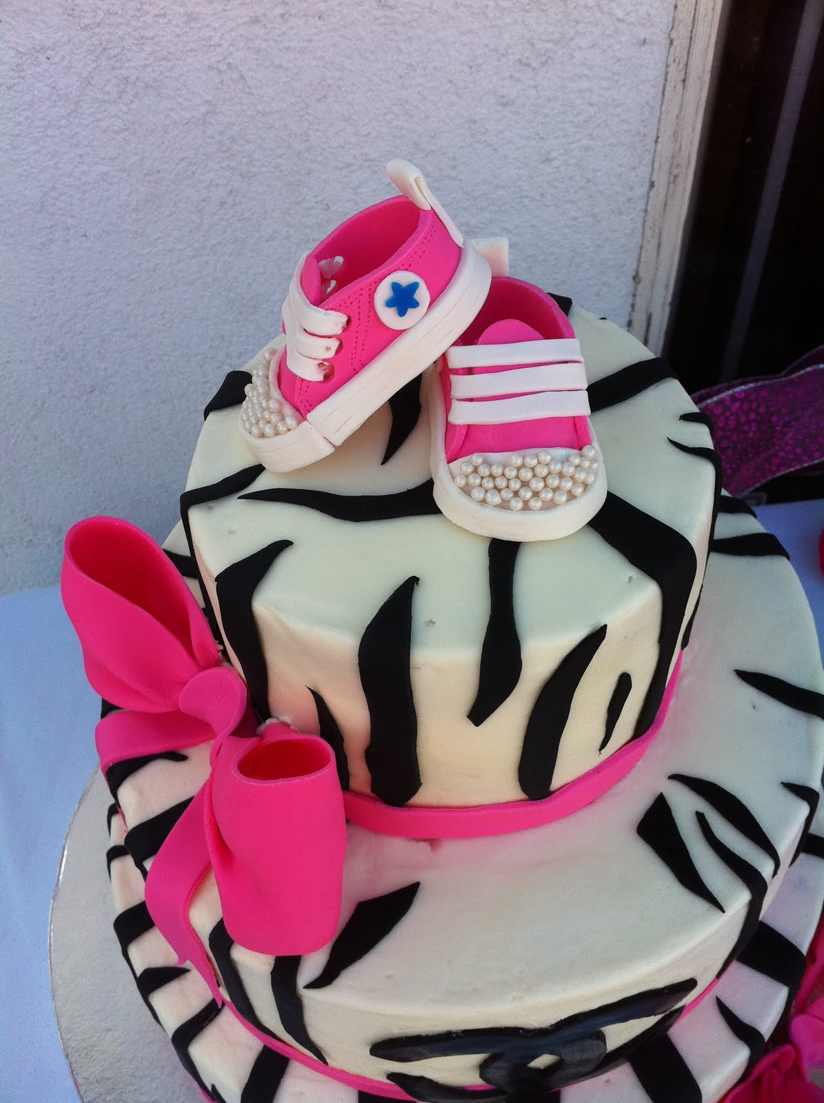 Cake Territory Whats Black And White With Hot Pink Converse