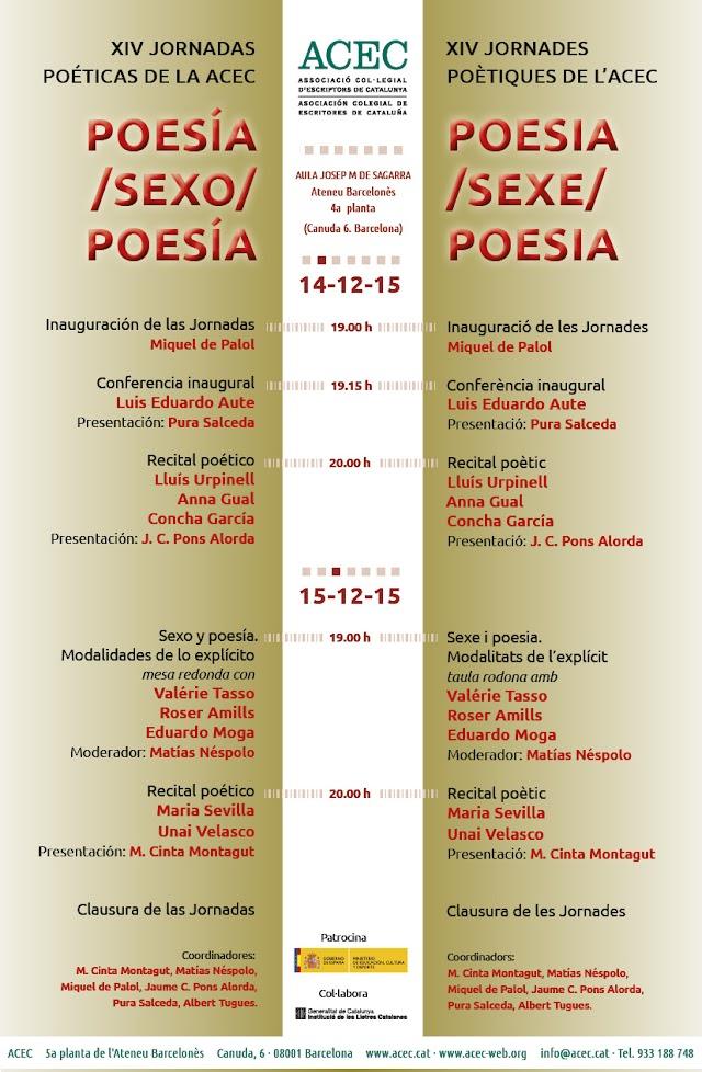 Jornadas poéticas de la ACEC 14-15 de diciembre
