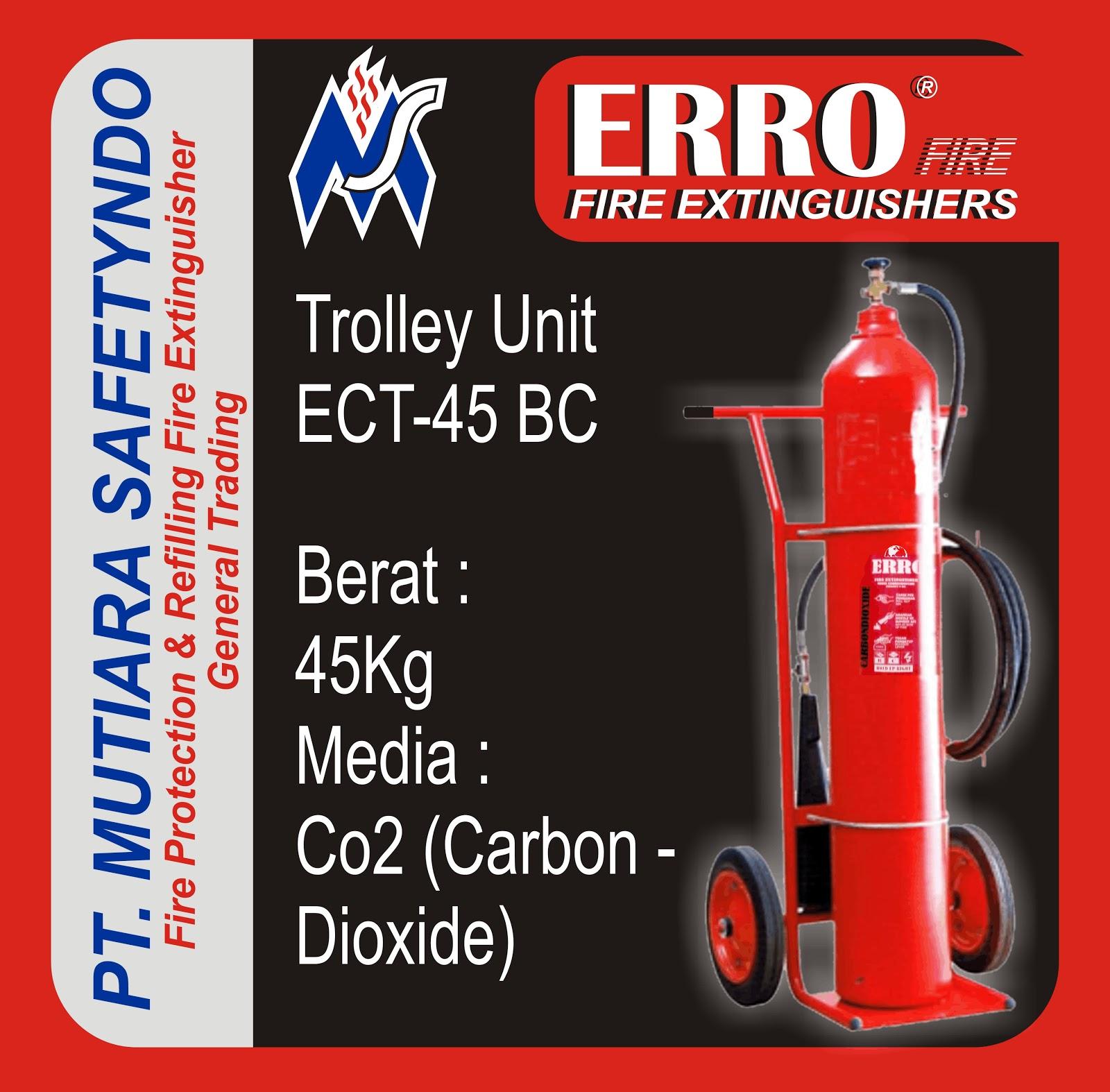 Tabung Pemadam Api | Tabung Apar Co2 Trolley Unit BC 45 Kg