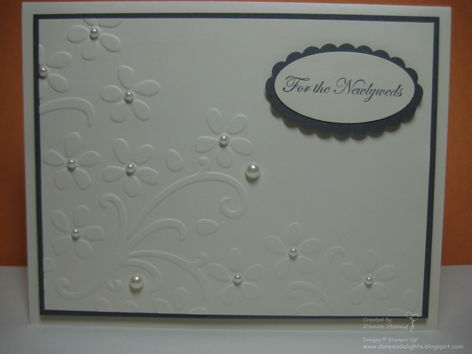 Wedding Card Making Ideas Part - 36: Embossed Wedding Card