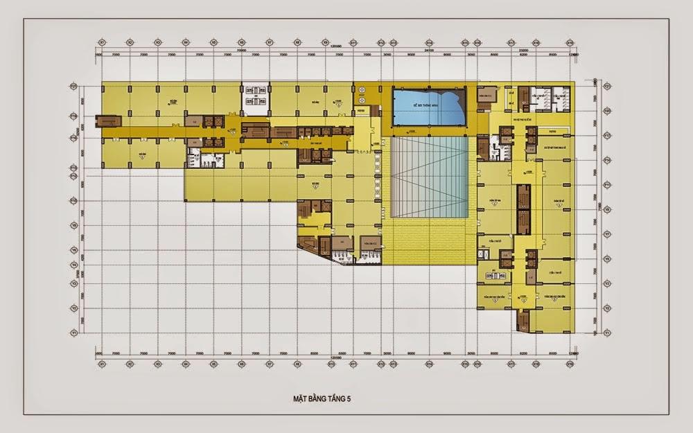 mặt bằng tầng 5 chung cư gemek tower
