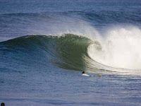 surfing on kuta center lombok west nusa tenggara Indoensia